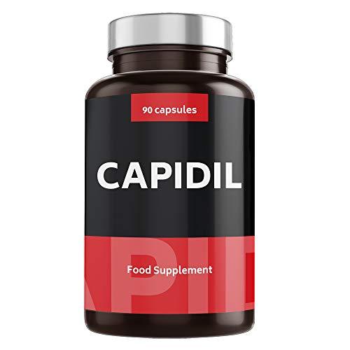 VITAMINAS ANTICAÍDA PARA EL CABELLO con Potentes Resultados - Vitaminas para Crecimiento con Fórmula Fortificante para Pelo - Alta Dosis de Biotina, Zinc y Cobre - 90 Cápsulas | CAPIDIL