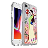 OtterBox Symmetry Series Disney Power of Princess Case for iPhone SE (2nd gen - 2020) and iPhone 8/7 (NOT Plus) - Retail Packaging - Garden of Honor (Mulan) (Silver Flake/Clear/Mulan Graphic)