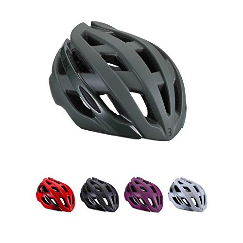 BBB Cycling Unisex-Adult Fahrradhelm Hawk | Damen und Herren | Aerodynamisch und 21 Luftschlitze | Rennrad | BHE-151 Grün M (54-58 cm), matt olive green, M (54-58cm)
