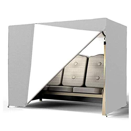 ZGQ Cubierta de Muebles de Jardin 220x125x170m, Fundas de Muebles Patio Impermeable, Cobertura de la protección UV Swing de recreación al Aire Libre, 3 tamaños,Gray