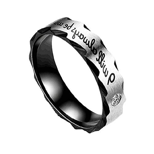 anillos, el anillo de los hombres dominantes, utilizando acero inoxidable, circón con incrustaciones, se divide en hombres y mujeres