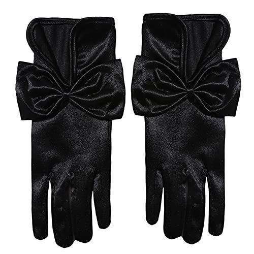 ZHDXW Lange Abendhandschuhe Hochzeit Opera Handschuhe Ladies Thing Elastic Retro Kleid Handschuhe Frauen Handgelenk Länge Classic Gloves Bridal Elbow Gloves,schwarz