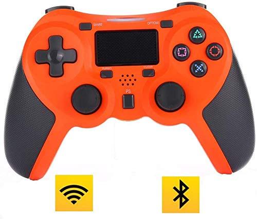 ZGYQGOO Manette Jeu pour Vibration sans Fil, Manette Jeu sans Fil, combiné pour Manette Charge rapiUSB, Manette PS4, compatibilité pour Les téléphones Android et iOS, Orange