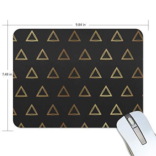 FANTAZIO Mauspad, goldenes Dreieck, dicke Computer-Tastatur, rutschfeste Gummiunterseite, Mauspad für PC Gaming oder Arbeiten