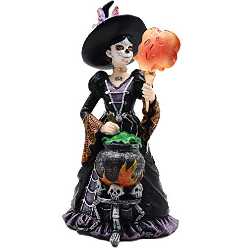 Comfy Hour Fairyland Collection 8', Witch from The Day of The Dead, La Calavera Catrina, Día de Muertos, Halloween Figurine, Polyresin