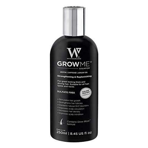 Grow Me Hair Growth Shampoo, Sulphate Free, Vegan, Caffeine, Biotin, Argan Oil, Allantoin, Rosemary. Stimulates hair growth, Great for slow growing hair - Hair growth problems for Men and Women