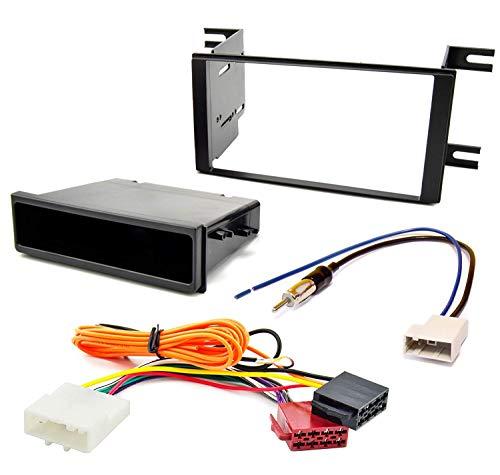 Sound-way 1 DIN / 2 DIN Radiopaneel Frame Autoradio met Montagebeugels en Lade, Antenne Adapter, ISO Aansluitkabel, ondersteuning voor Nissan Micra, March, Versa, Note, Subaru Impreza