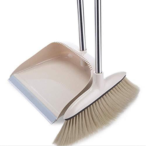 NJIUHB Stoffer en blik Stelt schoonmaak van de kamer met kam tanden Kunststofharen antistatisch (kleur, Wit # A, Size, 92x30cm), Wit # a, 92x30cm (Color : White#a, Size : 92x30cm)