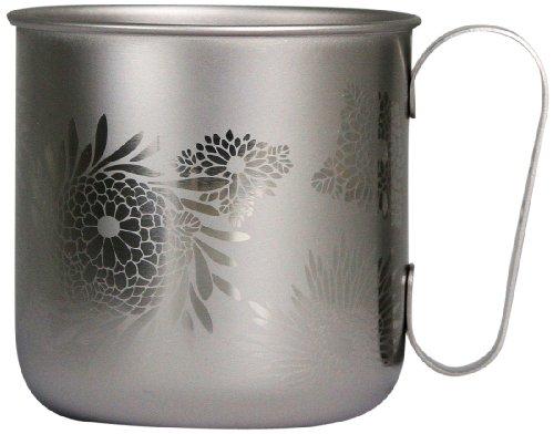 ホリエ チタンデザインマグカップ 和の花 菊(チタンシルバー) TMA-208A