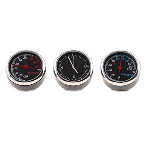 Dolity Auto Uhr Quarzuhr auto Thermometer Hygrometer für Auto-Dekoration - 1