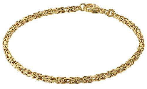 trendor Armband für Damen Königskette Gold 333 (8 Karat) Damen Armband, modische Geschenkidee, Armband Echtgold, Armschmuck für Damen, Goldarmband 75296