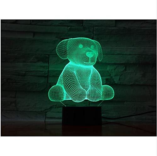 Mignon Ours Jouet 3D Acrylique Nuit Lumière Usb Sommeil Luminaire 3Aa Batterie Power Table Lampe Chambre Décor Enfants Cadeau