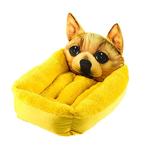 Monbedos hondenmand hondenmand 3D dierdruk huisdierbed voor buiten en thuis (Stil 2)