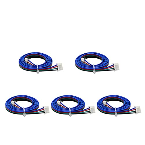 Stepper Motor Cable XH2.54 Terminal Connector 4pin to 6pin 1M for 3D Printer 42mm Stepper Motor 5PCS