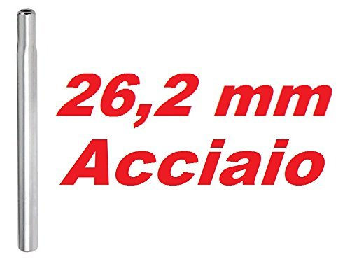 CSM Canotto Tubo Reggisella Candela Acciaio 25,8-26,0-26,2-26,4-28,6 Argento (26.2 mm)