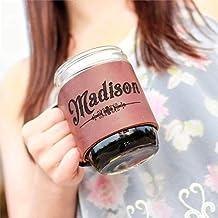 product image for The Bootlegger Custom Mason Jar Leather Jar Wrap with 1 Pint Jar