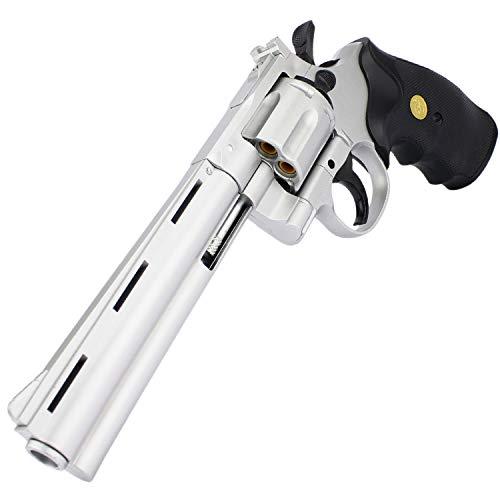 Softair Revolver Airsoft Pistole + Munition   G3-6S   28cm. Inkl. Magazin & 0,5 Joule   + Ersatzhülsen