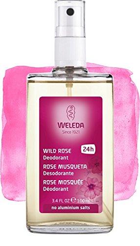 Déodorant spray de rose, nouvelle formule : Efficacité 24 h, 100% naturel et sans sels d'aluminium – Weleda – 100 ml