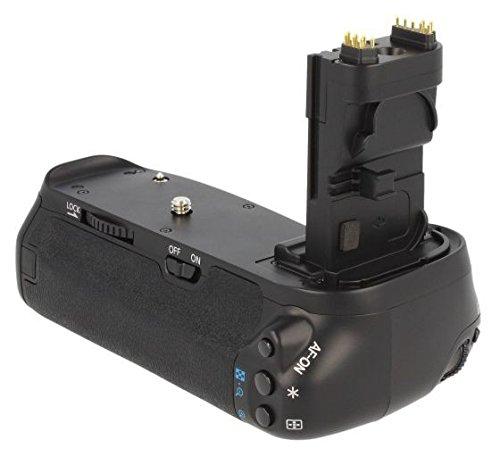 Meike Batteriegriff kompatibel mit Canon EOS 90D, 80D und 70D - Ersatz für BG-E14 - für 2X LP-E6 und 6 AA Batterien
