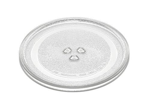 Plato de cristal de 24,5cm para hornos microondas DeLonghi MW380 MW480 MW485 MW495 MO480
