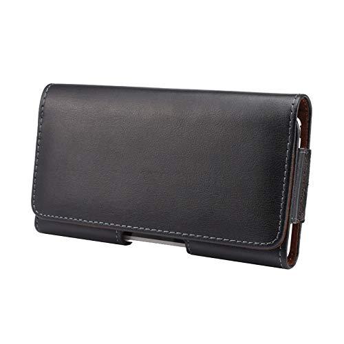 GUOQING Funda de piel para iPhone 11 XR, con clip para cinturón de teléfono celular, bolsa universal