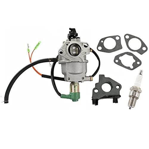 HURI Carburetor + Intake Manifold + Gaskets + Spark Plug for EB5000X EM5000X EM5000S EM5000SX EW171 Gas Generator Carb