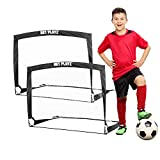 NET PLAYZ 4ftx3ft Easy Fold-Up Portable Training Soccer Goal, Black, Single (NOS274402020)