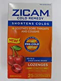 Zicam Sore Cold, Throats, Coughs, Wild Cherry, 25 Lozenges (Pack of 2)