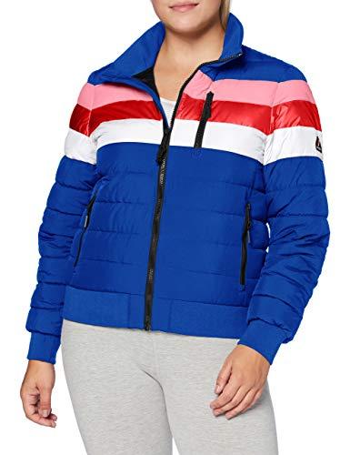 Superdry Colourblock Fuji Bomber chaqueta, Mazarine Blue, XS (Talla del fabricante:8) para Mujer