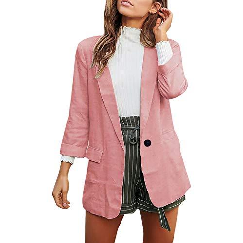 MRULIC Damen Blazer Frauen Strickjacke Schulterjacke Elegant Cardigan Langarmshirt Strickmantel Arbeitskleidung Mit Einem Knopf