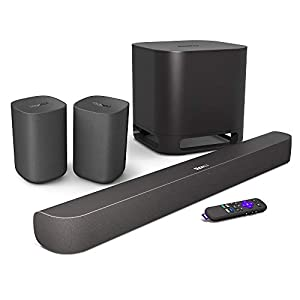 Roku Smart Soundbar, 4K/HD/HDR Streaming Media Player & Exceptional Audio, Includes Roku Voice Remote + Roku Wireless Subwoofer + Roku Wireless Speakers