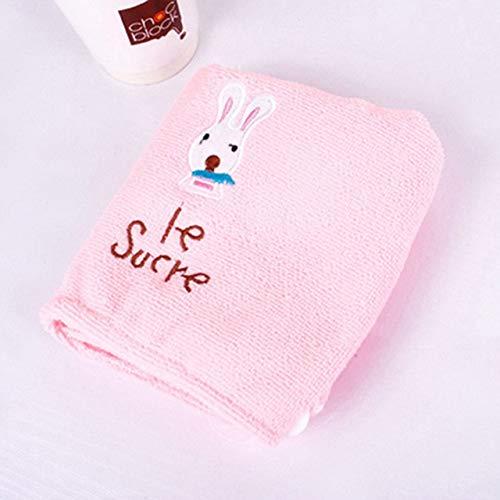 Xiaobing Toalla de baño de Microfibra de Estilo Lindo Gorro de Ducha de Toalla de baño Suave de Secado rápido para Mujer -Pink-B6