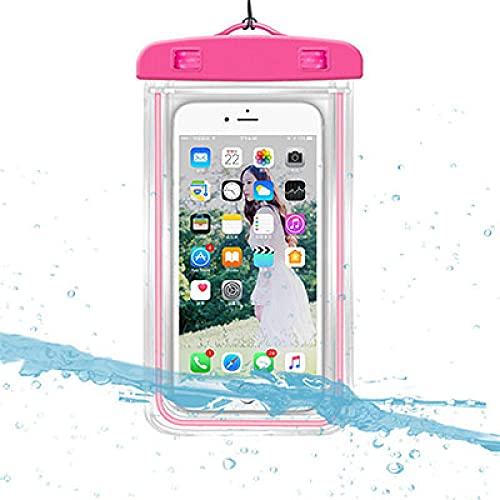Pinkcolor - Funda impermeable para smartphone, bolsa impermeable para teléfono móvil a la deriva bolsa de baño subacuática para secado subacuático para teléfonos móviles de menos de 6 pulgadas