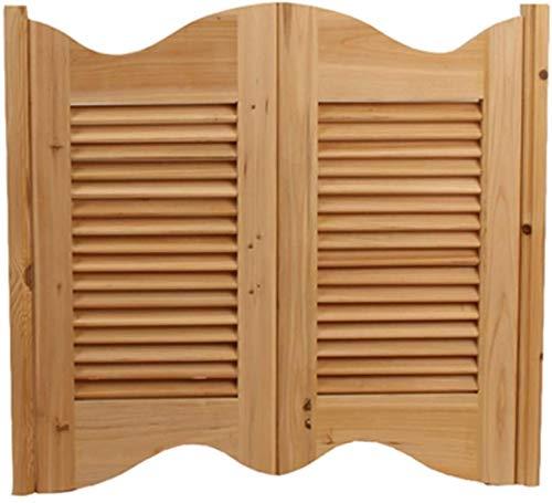HZWLF Puertas batientes Puertas de café Puerta de salón Porche de partición de Madera Maciza, Estilo Americano