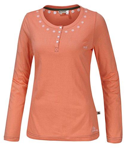 OCK Damen T-Shirt Langarm, Orange, 40