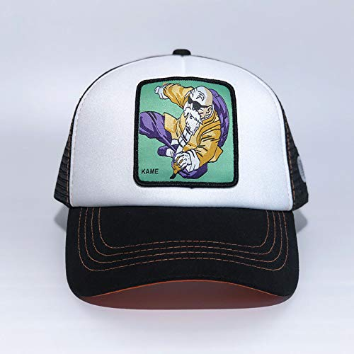 sdssup Sombrero Personaje de Dibujos Animados Gorra de béisbol Gorra de Malla Tortuga Hada Blanco Negro Ajustable