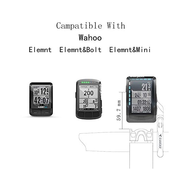Road Bikes TedKat Wahoo Mount, Out Front Combo Bike Mount for Wahoo Elemnt,Wahoo Elemnt Bolt, Wahoo Elemnt Mini, and Camera (Wahoo…