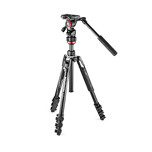 Manfrotto Befree Live, Travel Video Tripod with Video Camera Head and Lever Closure, Aluminium Tripod for DSLR, Mirrorless, Reflex Cameras and Video Cameras, Camera and Video Accessories