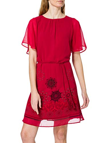 Desigual Womens Vest_Tampa Casual Dress, Red, M