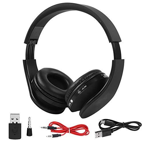 VBESTLIFE Bluetooth Kopfhörer,Wireless Gaming Headset Kopfhörer HiFi Stereo Kopfhörer für PS4,Schwarz