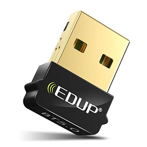 USB Adaptador Bluetooth 5.0 para PC, Mini Bluetooth EDR Dongle para Ordenador de sobremesa para Ordenador portátil Auriculares Altavoces Teclado ratón Impresora Windows 10/8.1/8/7