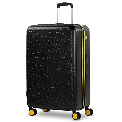 Lois - Maleta de Viaje Grande 4 Ruedas Trolley 75 cm Rígida de ABS. Dura Práctica Cómoda Ligera y Bonita Marca de Confianza y Estilo. Candado TSA. 171170, Color Negro