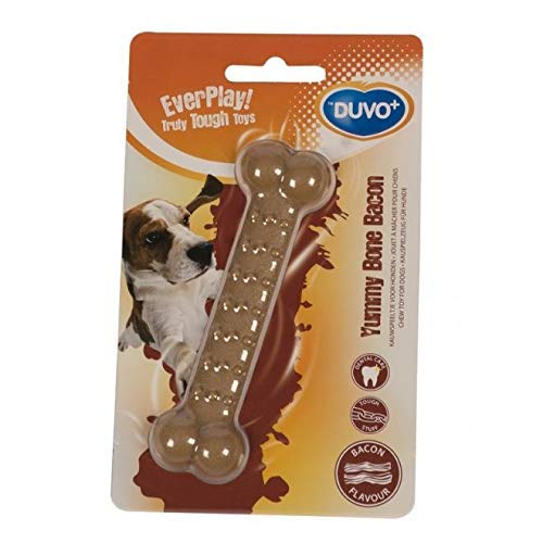 Duvo+ Bone Bacon Dog Toy Bone Delicious Bacon 11cm