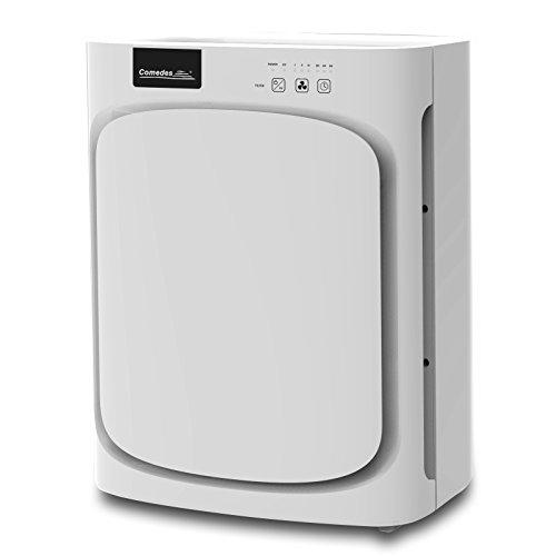 Comedes Luftreiniger Lavaero 150 mit 5-Stufen-Filter, HEPA-Kombifilter inkl. Aktivkohlefilter und Ionisator, Ideal für Allergiker und Raucher, für Räume bis zu 40 m²