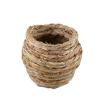 HEEPDD Nid d'oiseau, nid d'oiseau en Paille tissée à la Main, écloserie, élevage de grottes pour moineaux Perroquet canari Pinson