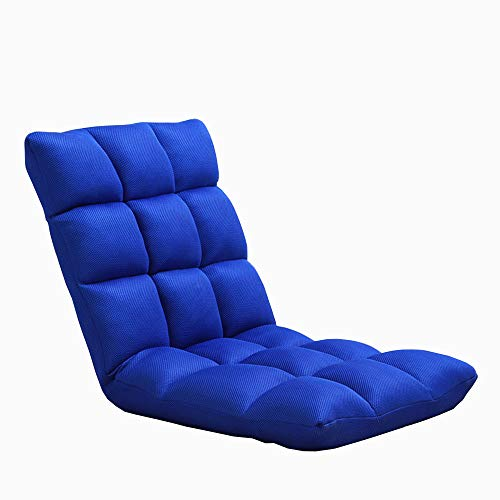 LJFYXZ Canapé Paresseux Chaise Seul Petit canapé Réglage à 5 Vitesses Mesh Respirant Loisirs et Confort Chaise d'ordinateur Salon Chambre Multicolore en Option (Couleur : Bleu)