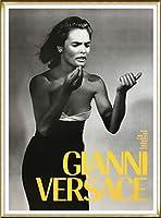 ポスター ブルース ウェーバー Versace Woman 額装品 アルミ製ハイグレードフレーム(ゴールド)