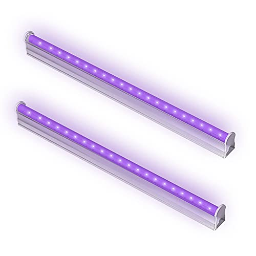 Bomcosy 2 Barres LED UV 6W, 395nm Tube LED Lumière Noire, Lu