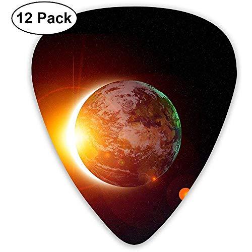 12-Pack Fashion Classic E-Gitarren Plektren Solar Picture Instrument Standard Bassgitarrist