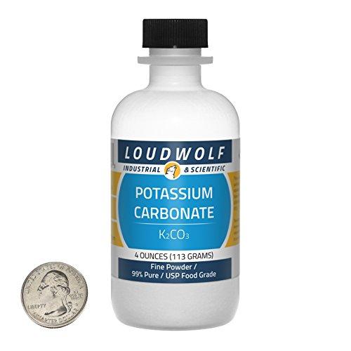 Loudwolf Potassium Carbonate/Fine Powder / 4 Ounces / 99+% Pure/Ships Fast from USA